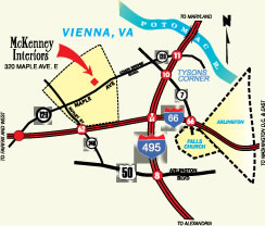 Map for Vienna Showroom